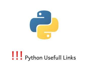 python usefull links