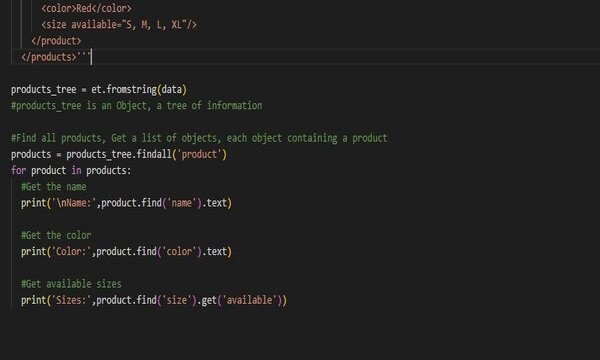 Parse XML documents with Python