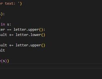 swapcas text in python