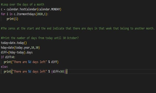 working with date in python